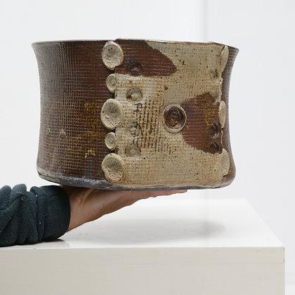 Large Hand Thrown Stoneware Bowl - Leonard Millward, c. 1978