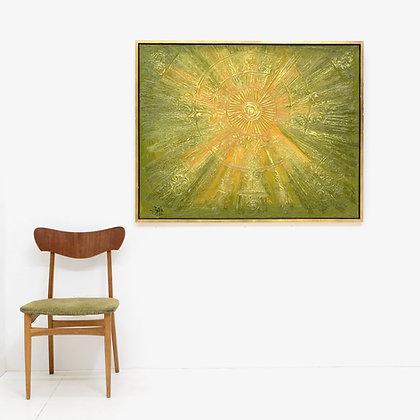 Large Dramatic Impasto Painting - Van Hoople, Hillside Gallery, USA, c. 1960s
