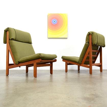 """a pair of """"Rag"""" lounge chairs - Bernt Petersen for Søren Willadsen, c. 1960s"""