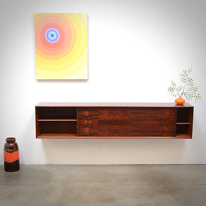 Danish Modern Brazilian Rosewood Floating Credenza Sideboard by Skovby, c. 1960s