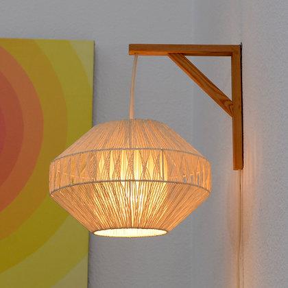 Danish Modern Studio Craft Rope Sconce Wall Lamp