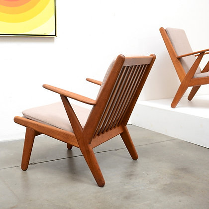 a pair of Danish Modern Lounge Chairs - Poul Volther for FDB Møbler