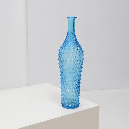 Diamond Cut Art Glass Bottle - Rossini, Empoli Italy c. 1960s
