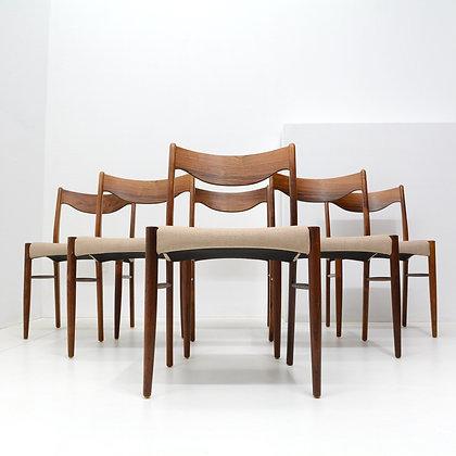 Set of 6 Rosewood Dining Chairs - Ejnar Larsen & Axel Bender, Denmark, c. 1960s
