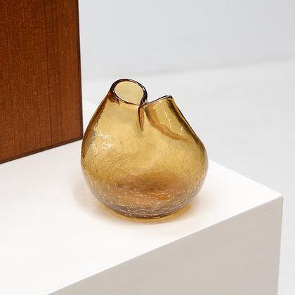 "Crackle Glass ""Pinch"" Bud Vase - Blenko, c. 1970s"