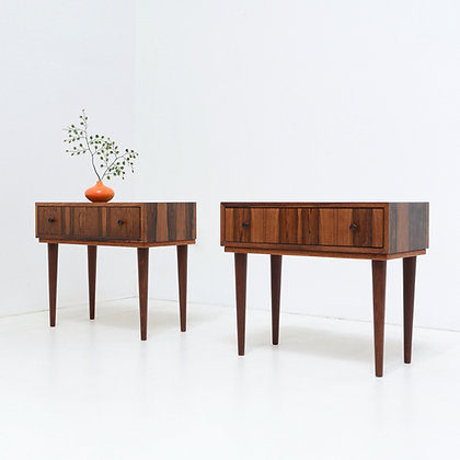 Pair Danish Rosewood Nightstand Tables,  Denmark, c. 1960s