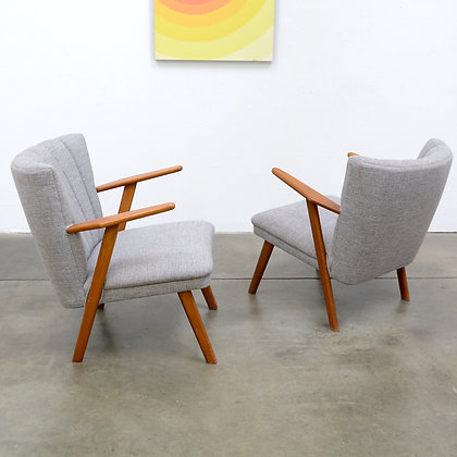 "Pair Danish Modern ""Cocktail"" Lounge Chairs - Denmark, c. 1950s"