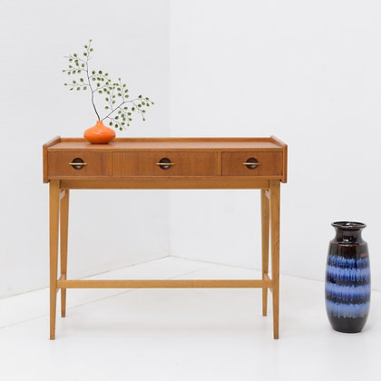 Teak and Beech Entry / Console Table, Sweden, c. 1960s