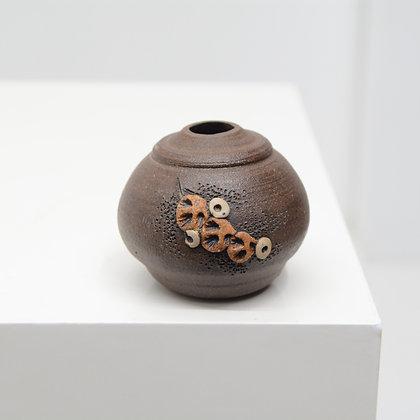 Stoneware Weed Pot - Signed American Studio Craft, c. 1970s