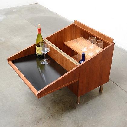 Danish Modern Teak Mobile Bar