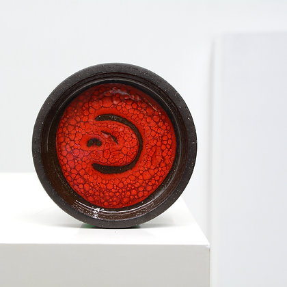Art Pottery Glazed Stoneware Small Tray / Valet - Lehmann, Denmark, c. 1970s