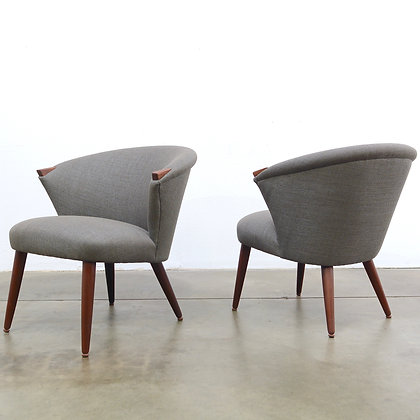 "a pair of ""TV"" Lounge Chairs - Bent Møller Jepsen for Simo, c. 1950s"