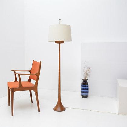 Segmented Teak Floor Lamp Lamp, Denmark c. 1960s