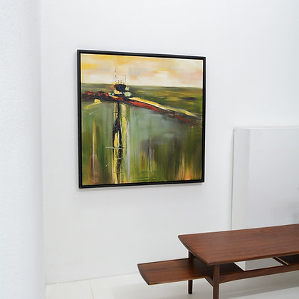 Large Abstract Painting, Unknown Artist