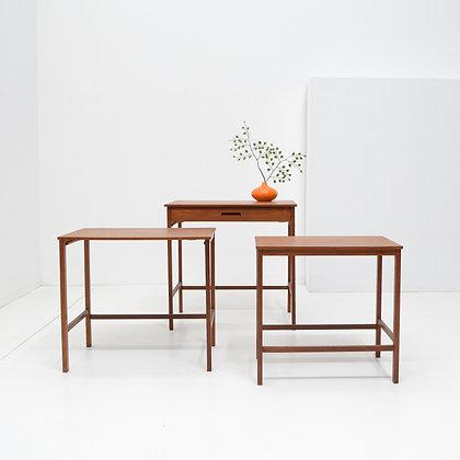 Fine Teak Nesting Tables - Denmark, c. 1960s