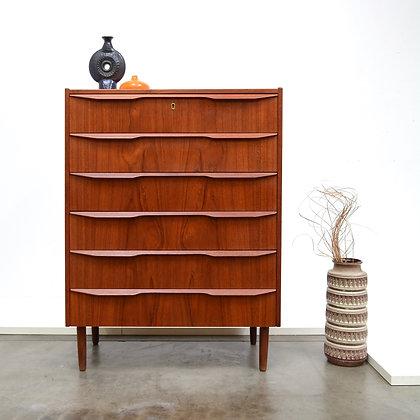 Danish Modern Teak Dresser Chest - Gunnar Nielsen Tibergaard