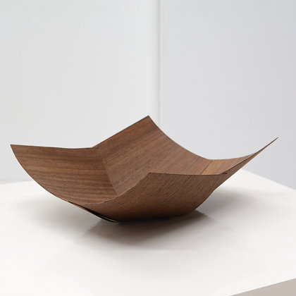 Crafted Exotic Split Formed Wood Origami Bowl - USA