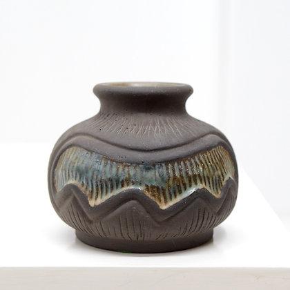 Danish Modern Incised Vase - Johannes & Marie Hansen for Løvemose, c. 1960s