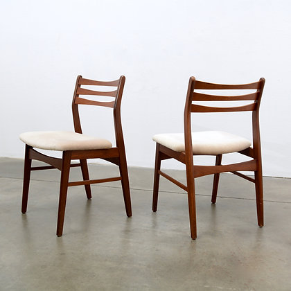 Set of 4 Teak Sculptural Back Dining Chairs - Christen Findahl, c. 1960s