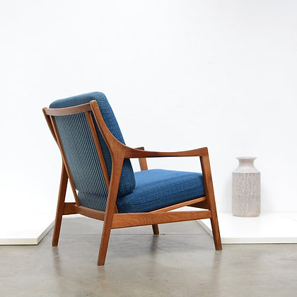 "Danish Modern ""Line"" Lounge Chair - Manner of Vestergaard Jensen, c. 1960s"