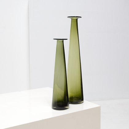 Set of Blown Tapered Art Glass Vases, c. 1960s