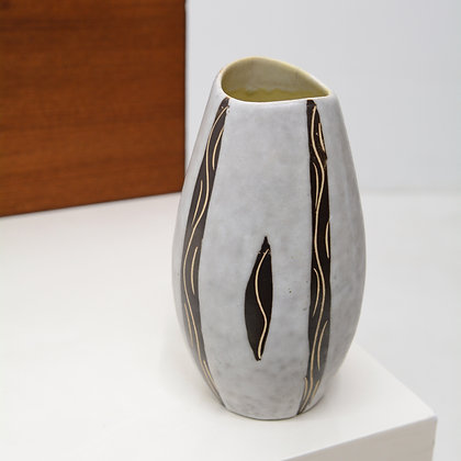 Incised Modernist Vase - J. Grau, Marzi & Remy, West Germany, c. 1960s