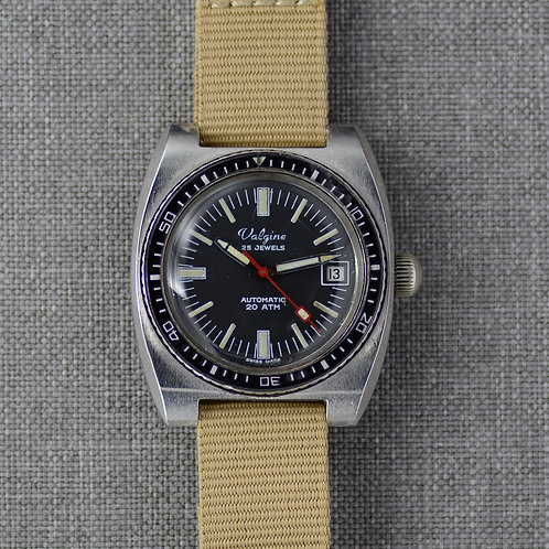 Valgine Stainless Steel Diver Automatic c. 1970s