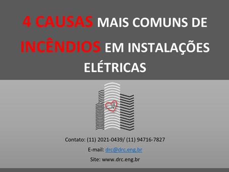As 4 causas mais comuns de incêndios em instalações elétricas
