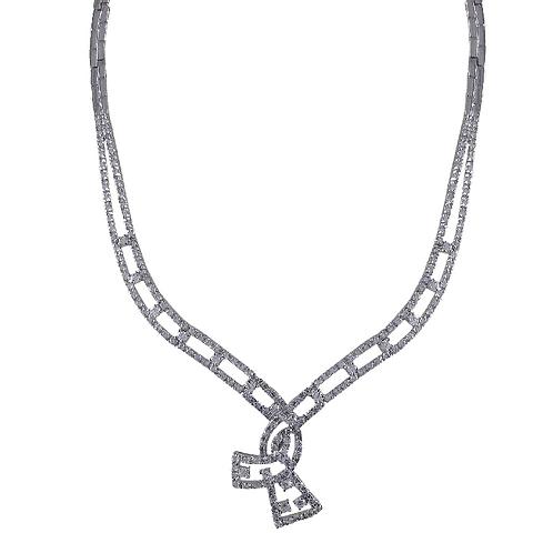 .925 Elegant Knot Necklace