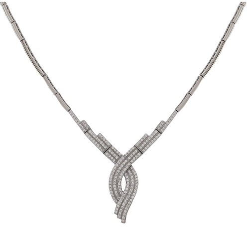.925 Elegant Twist Necklace