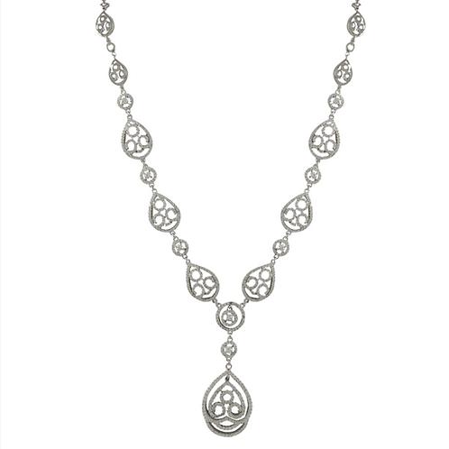 .925 Pear Shape Swirl Necklace