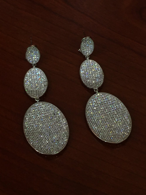 .925 Three Coin Earring