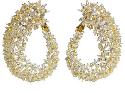 .925 Cluster Hoop Earrings
