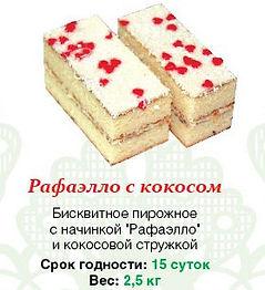 """Пирожное """"Рафаэлло с какосом"""" 2,5 кг"""