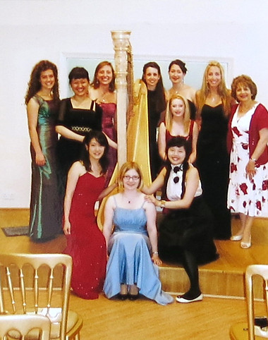 RAM students at Holywell Music Harp Showrooms, London