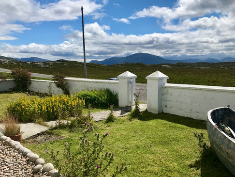 Front garden with views to South Harris