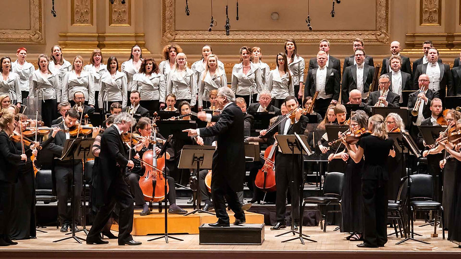 ORR, the Monteverdi Choir and Sir John Eliot Gardiner.  Beethoven Symphony Cycle  Carnegie Hall NY  February 2020