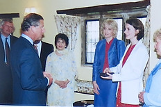 With HRH Prince Charles and Catrin Finch