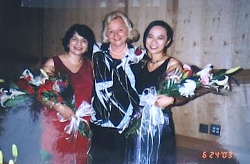 With Susann McDonald and Ann Yeung