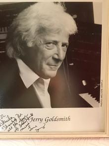Signed photo, Jerry Goldsmith
