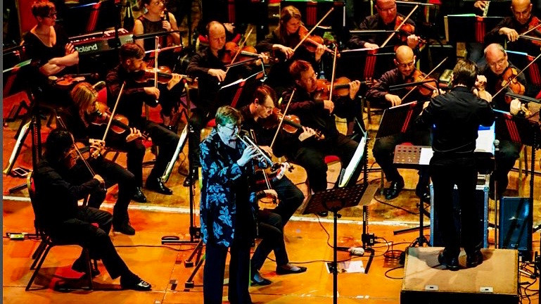 kate moore as trumpet soloist with the bbc concert orchestra