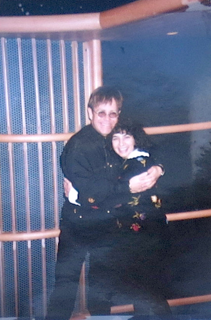 With Elton John