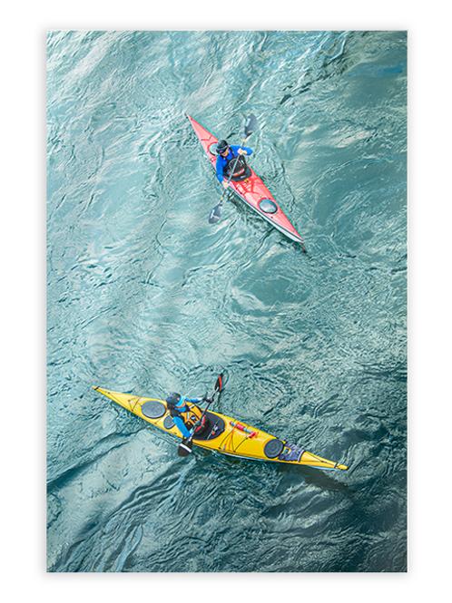 Kayakers Greeting Card