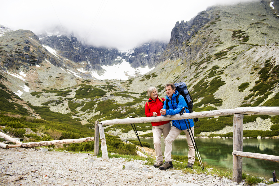 bigstock-Senior-couple-hiking-67058605