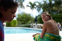 Carly at Grandma's Pool, 2013