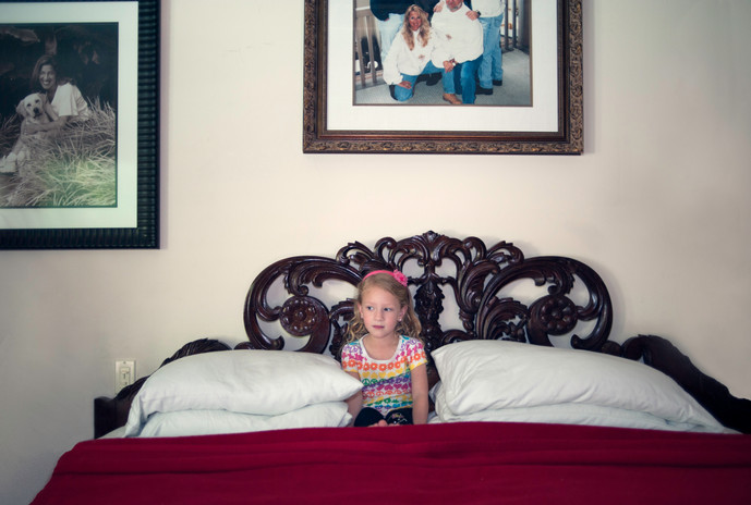 Jessica in Grandma's Bed, 2012