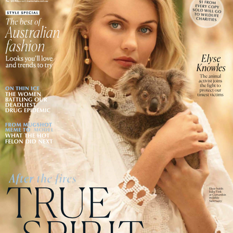 marie claire joins forces with Currumbin Sanctuary to raise awareness for Aussie Wildlife Charities