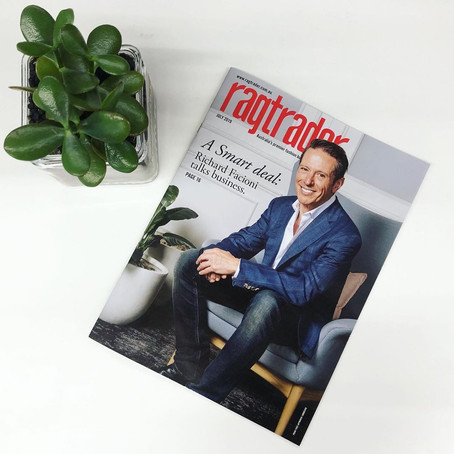 Richard Facioni features on July cover of Ragtrader