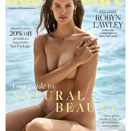 marie claire launches sustainability issue with Robyn Lawley as cover star
