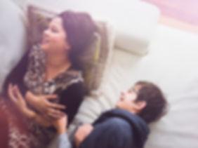Mutter mit ihrem Sohn